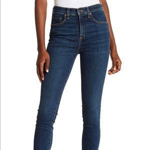Veronica Beard Jeans vintage w/ dark fray rinse